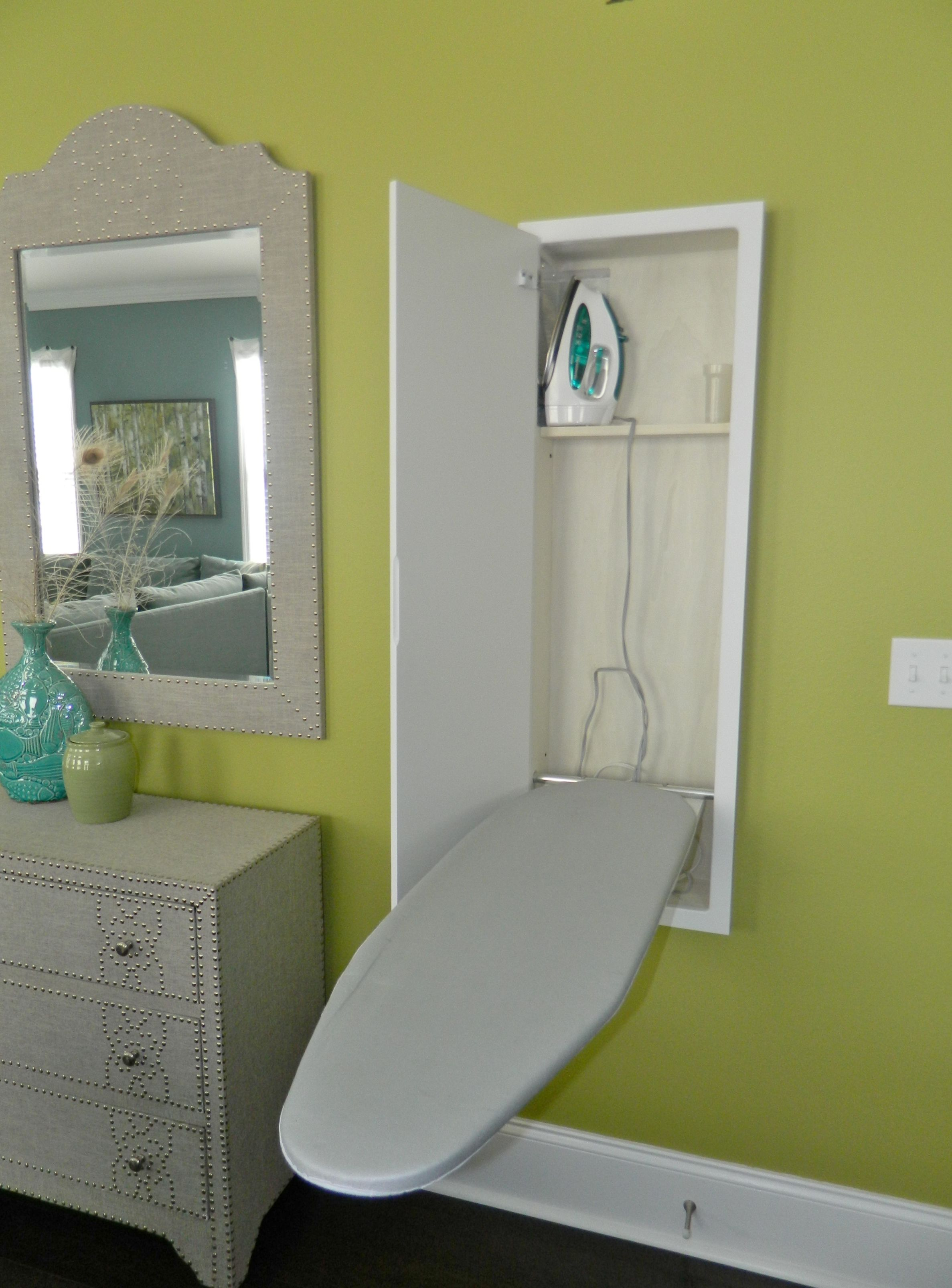 Built-in vintage style ironing station in this beautiful Tallahassee home!