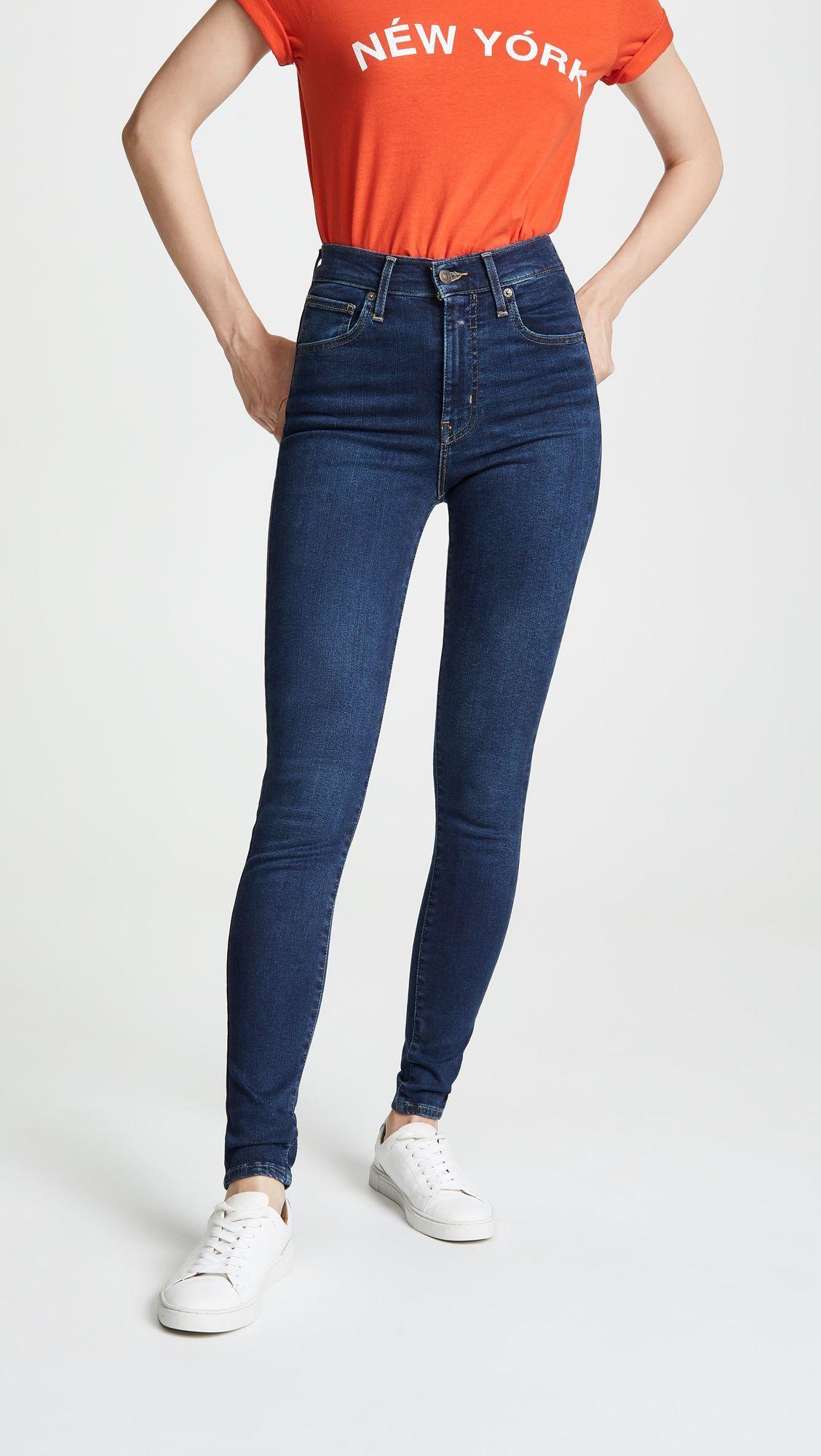 Levi S Mile High Super Skinny Jeans Jeans De Moda Pantalones Skinny Mujer Pantalones De Moda