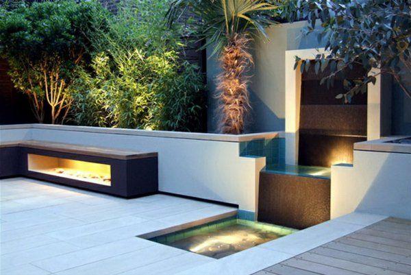 kleiner teich auf der terrasse moderne gestaltung