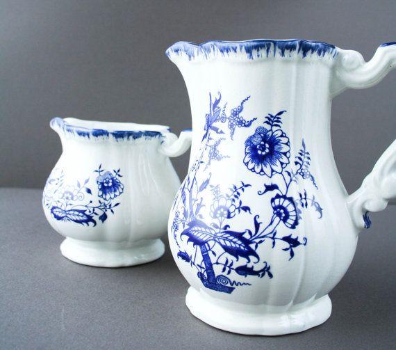 Kitchen Accessories China: French Vintage Sarreguemines Ceramic Set