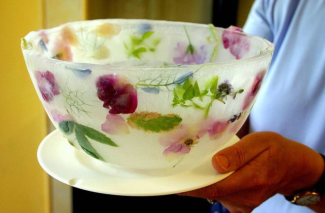 Ice Flower Bowl Ice Bowl Edible Flowers Recipes Edible Flowers