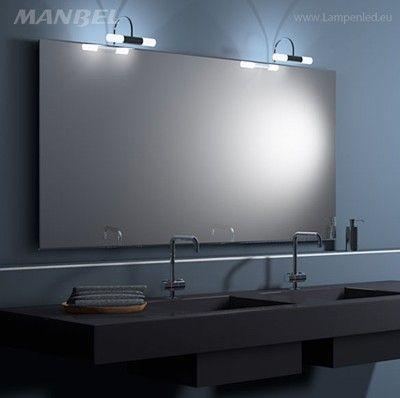 Spiegelbeleuchtung 2 Leuchten für 1 großen Spiegel Salle de bain - spiegel badezimmer mit beleuchtung