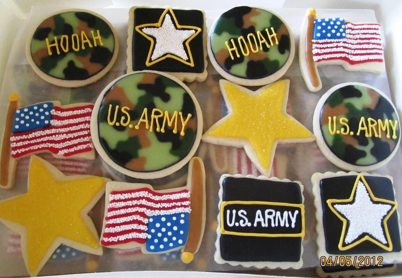 ARMY designs for cookies | Militar | Pinterest