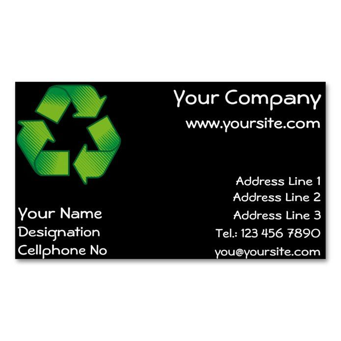 Recycling Symbol Business Card Magnet Zazzle Com In 2021 Recycle Symbol Magnetic Business Cards Custom Holiday Card