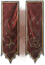Zenimax Online Studios Medieval Banner Tattoo Banner Framed Flag