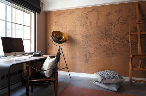 Bureau maison de style industriel et moderne Workspace Pinterest