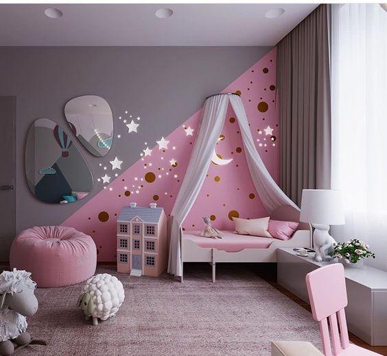 modernes Kinderzimmer #kinderzimmermädchen