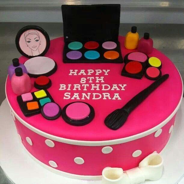Make Up Inspired Cake