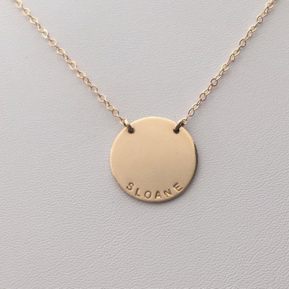 6bfc3bfaa The Zola Disc Necklace / Personalized 3/4