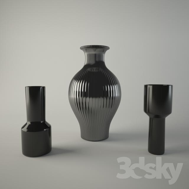 Set Of Vases 3dmodels Pinterest 3d