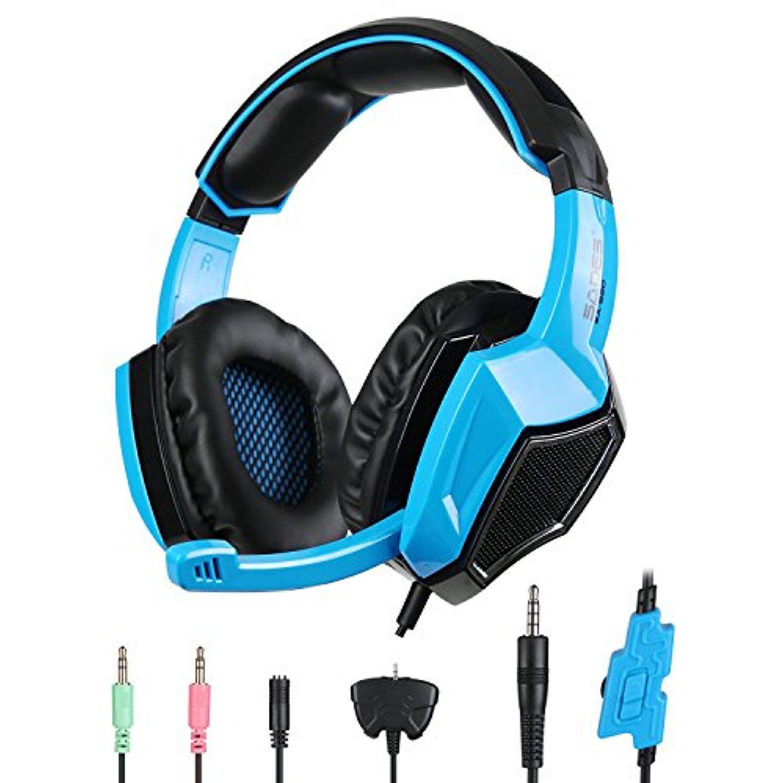PS4 Headset, SADES SA-920 Stereo Gaming Over-Ear Headphone Headset ...