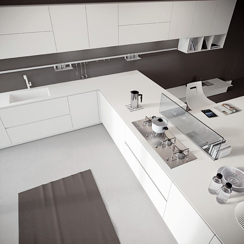 Beautiful Cucina In Corian Contemporary - Ridgewayng.com ...