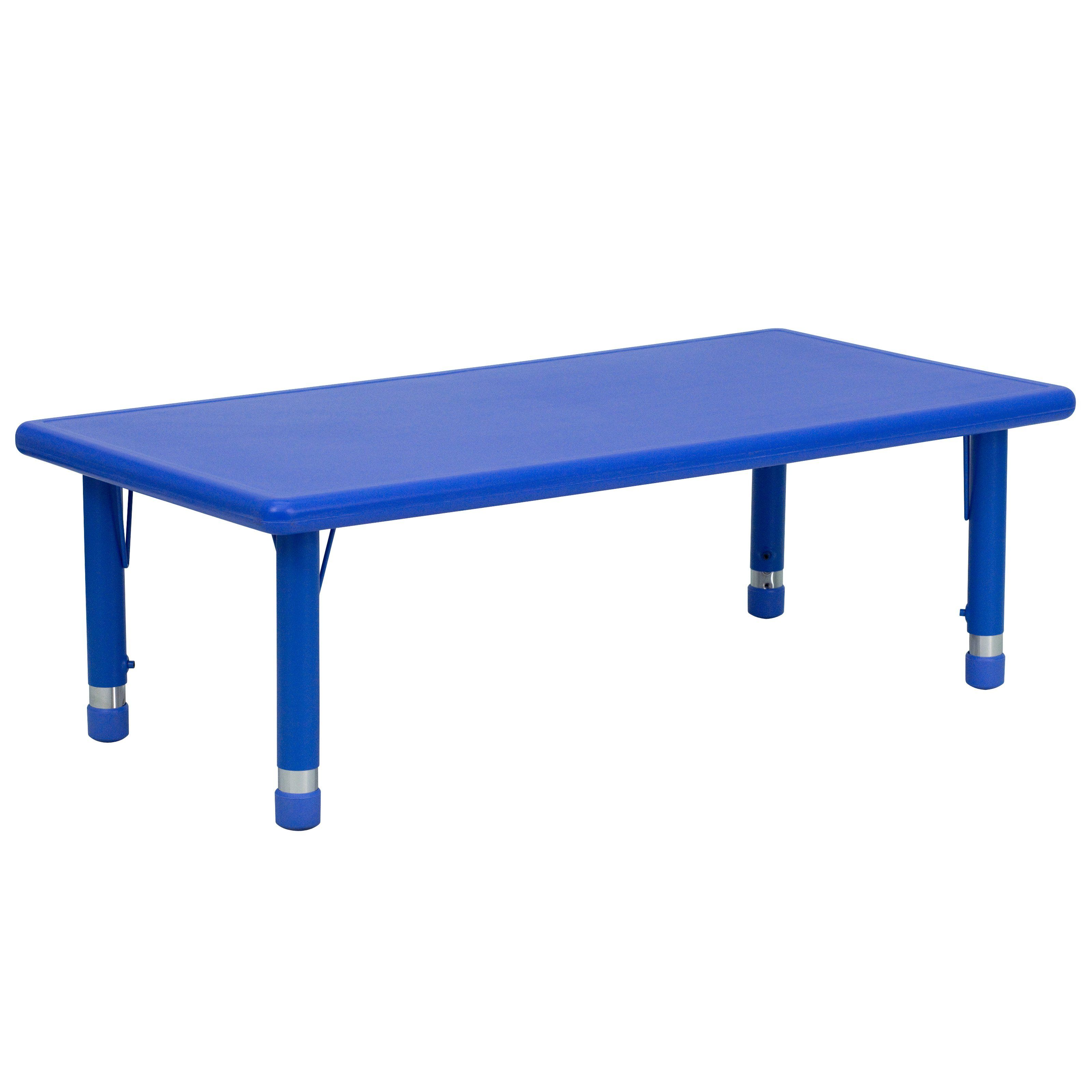 Flash Furniture Rectangular Adjustable Height Activity Table - 48L x ...