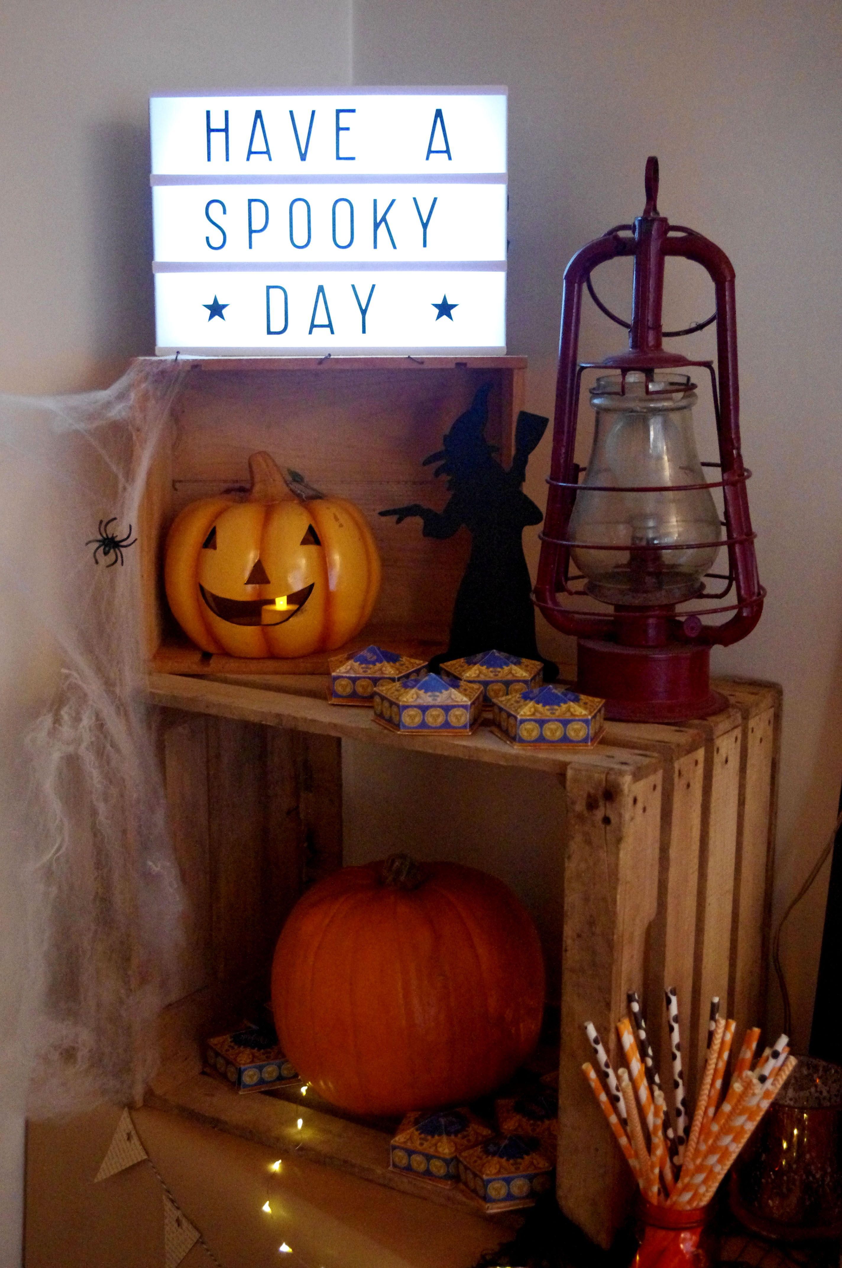 Halloween Decor Candy Bar Lightbox A Little Lovely Company Light Box Quotes Light Box Sign Light Letters