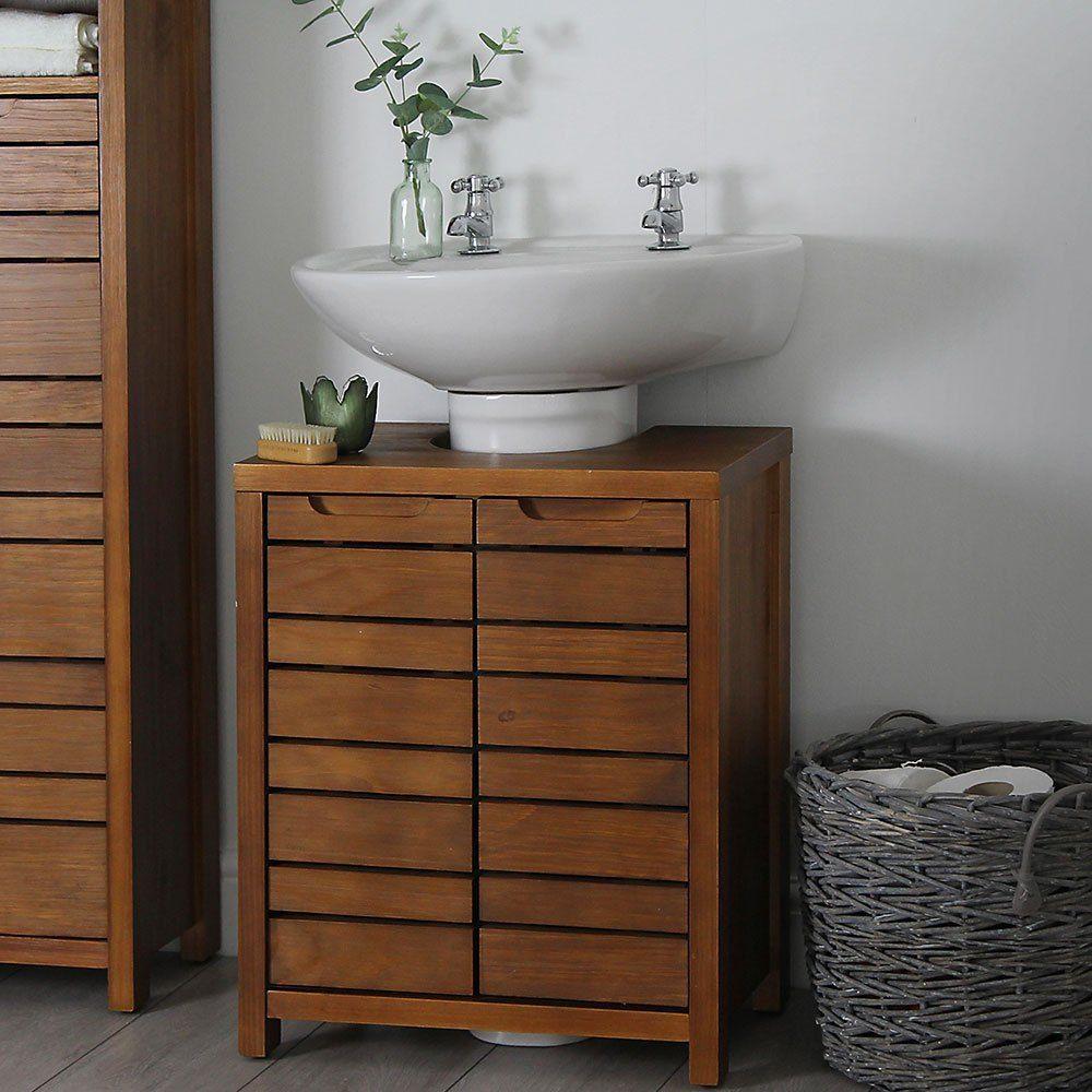 35+ Wooden under bathroom sink storage inspiration
