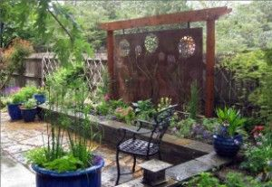 Artist Patios | Metal Art Plate Privacy Screen For Patio By Mile High  Landscaping .