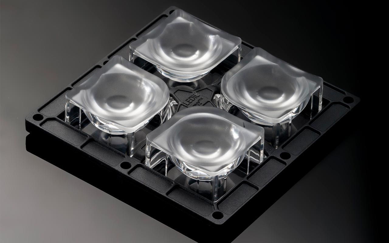 1df10ecc Инженеры LEDIL разработали новую линзу из оптического силикона  FP16310_HB-2X2MXS-M, которая работает