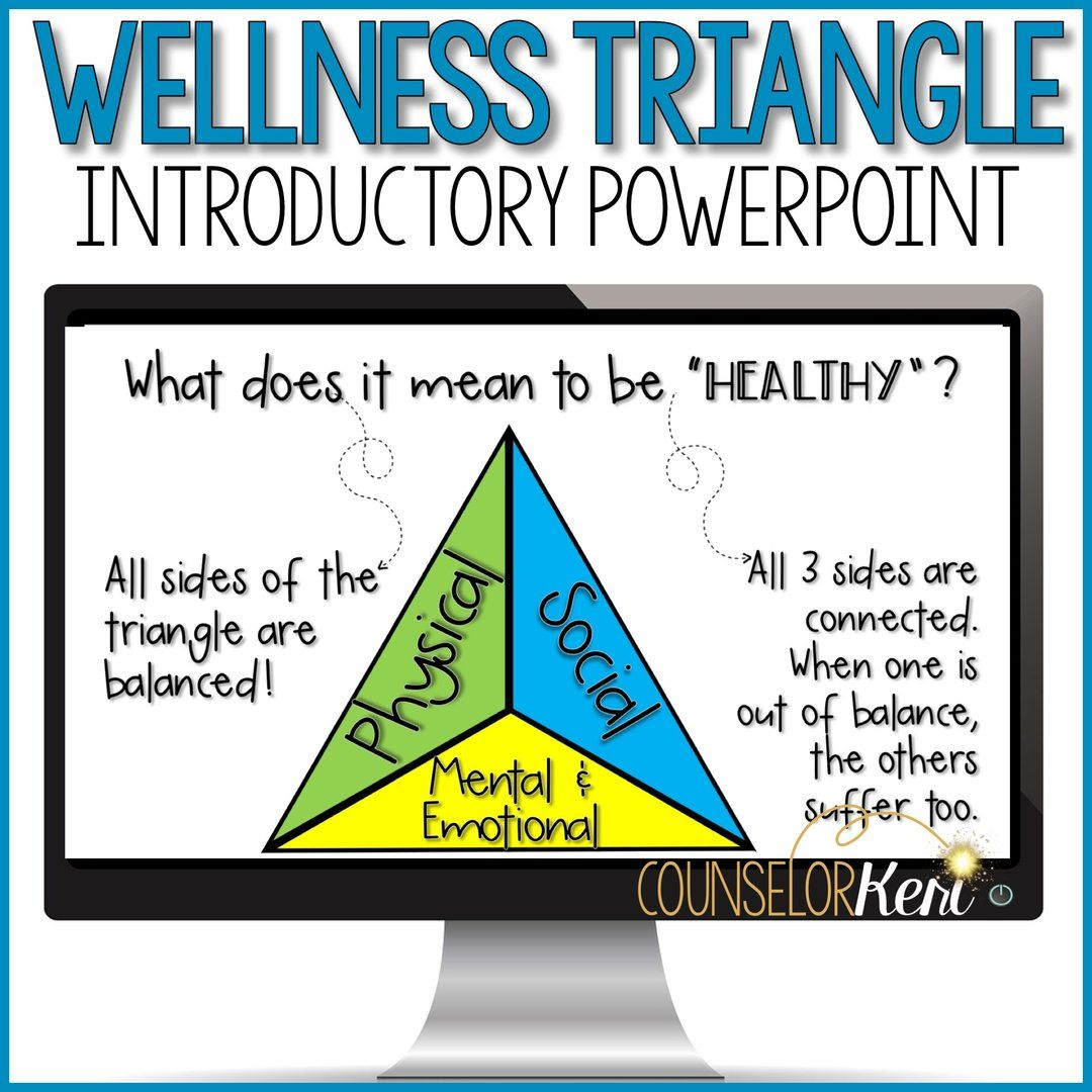 Wellness Triangle Classroom Guidance Lessons Healthy