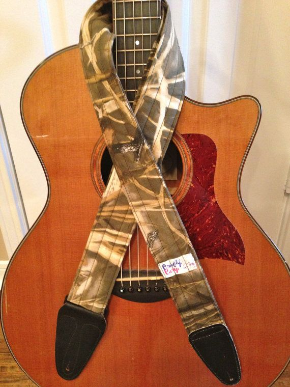 guitar strap handmade realtree max4 hd camo by craftycary for my boys guitar. Black Bedroom Furniture Sets. Home Design Ideas