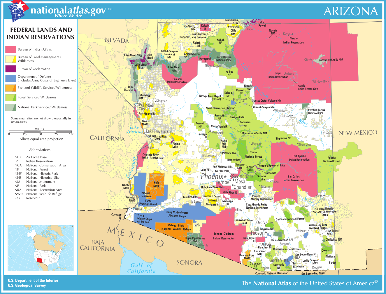 indians of arizona | ... sized map: Map of Arizona (Map ... on railroad maps in us, flowers in us, states maps in us, stats in us, florida maps in us,