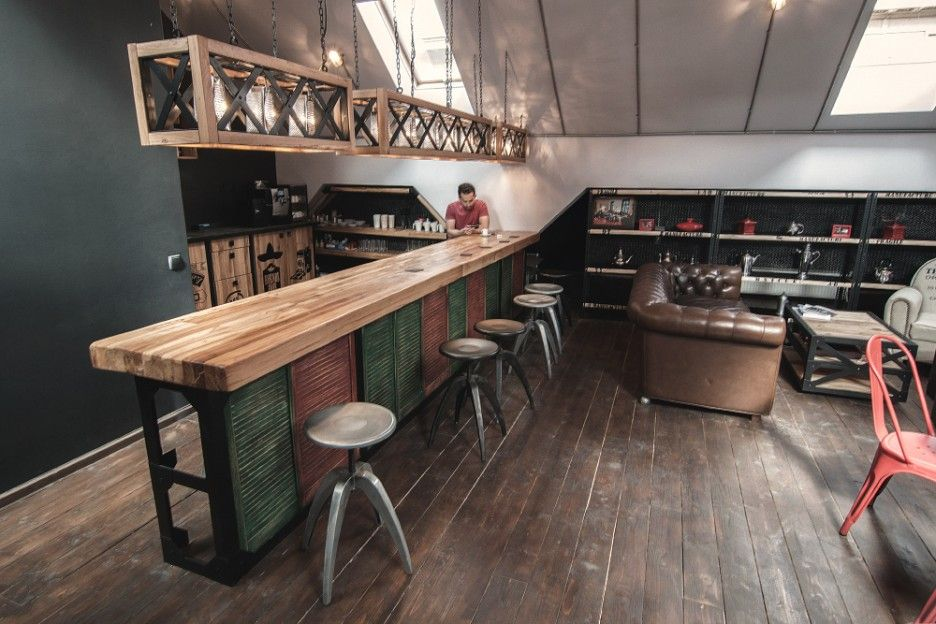 decoration unique attic bar and couch existence involving wooden rh pinterest com