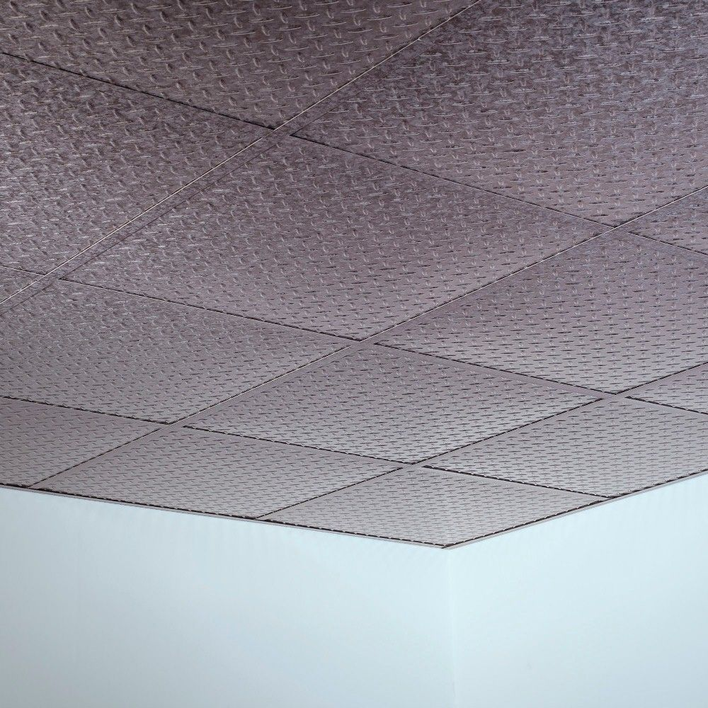 Reveal edge ceiling tile choice image tile flooring design ideas fasade diamond plate revealed edge galvanized steel 2 foot square fasade diamond plate revealed edge galvanized dailygadgetfo Image collections