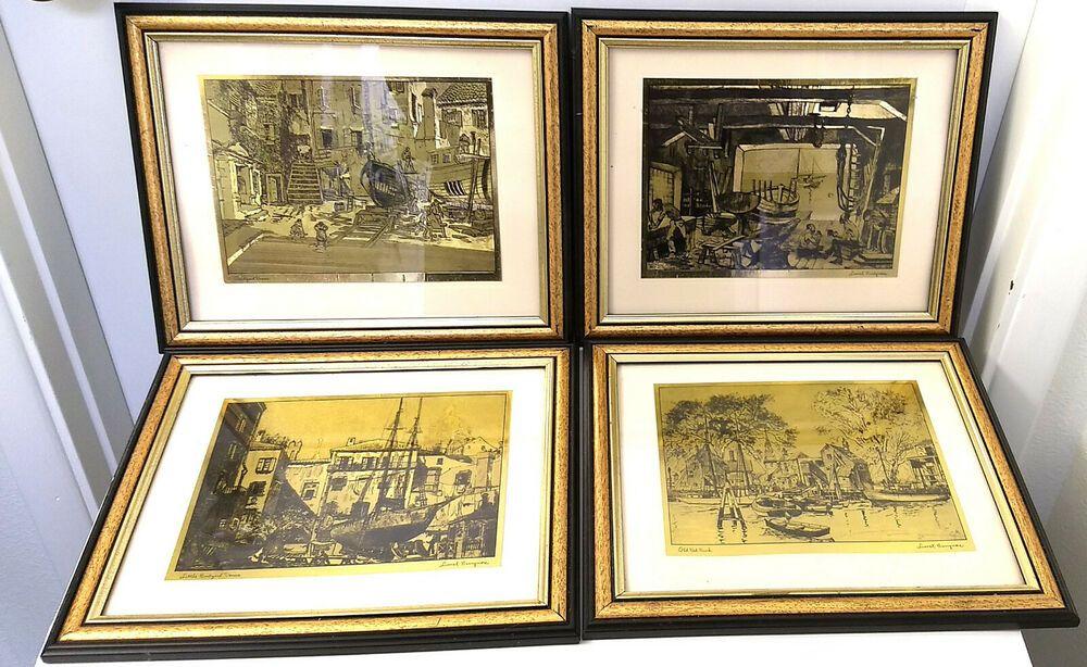 Details about vintage lionel barrymore set of 4 gold foil