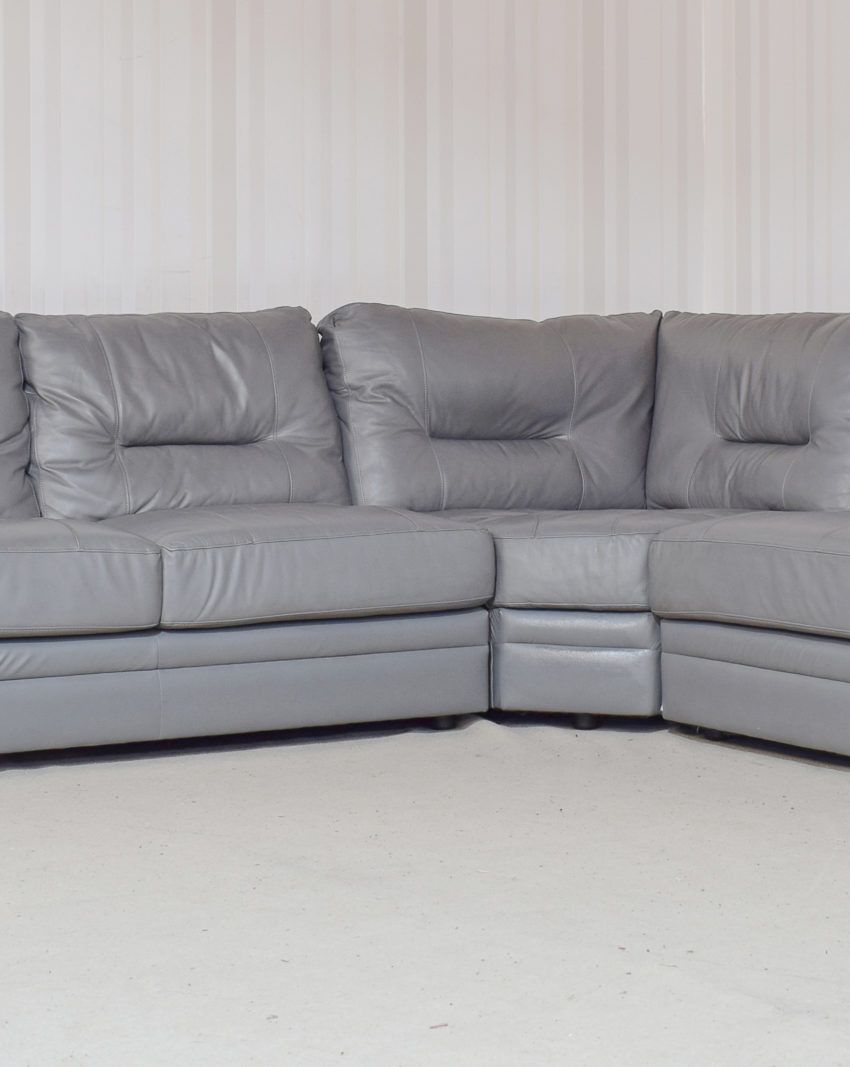 Superb Mellow Leather Grey 3 Piece Corner Sofa 33 Sofas To Go Ocoug Best Dining Table And Chair Ideas Images Ocougorg