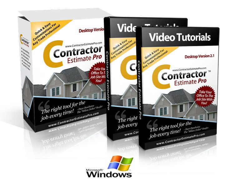 Contractor Pro Software - Estimate Software Contractors how to - contractor estimate