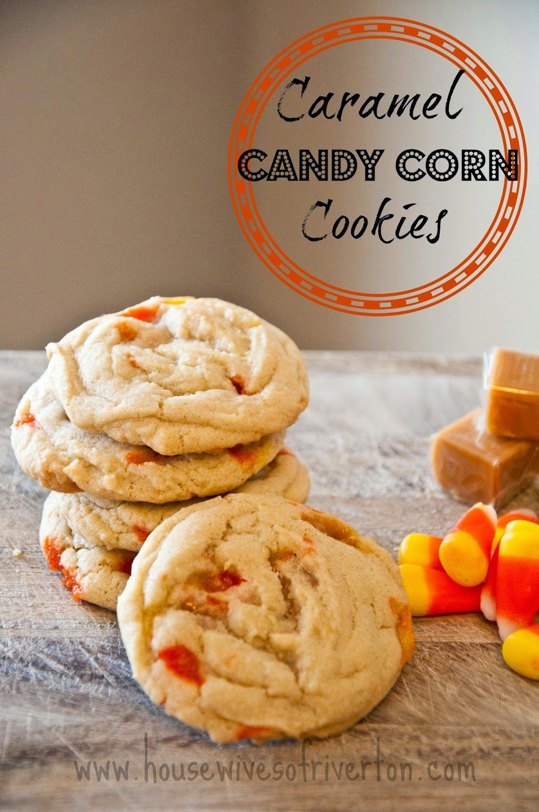 Caramel Candy Corn Cookies - Housewives of Riverton