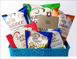 Enter to win an Earth Balance snack pack + a $175. Whole Foods gift card!