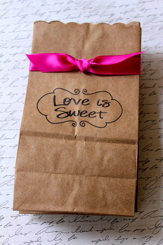 Candy In Weddings Buffet Dessert Table Paper Bags Possibly Reception Gift