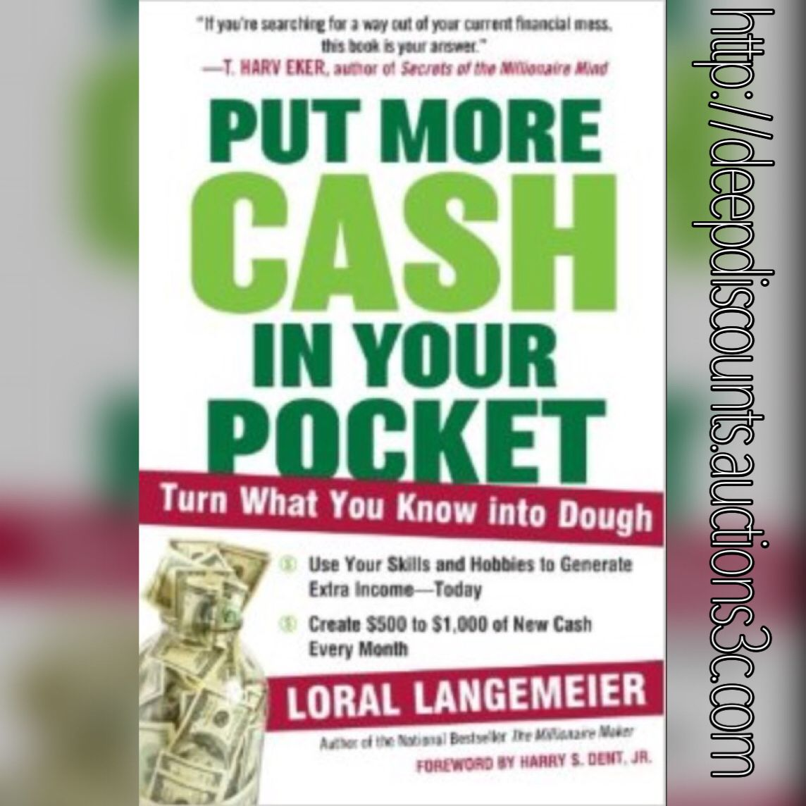 Put More Cash in Your Pocket, by Loral Langemeier $11.99 You save 23% off the regular price of $15.58  In this incredibly timely book for a moment when everyone is looking to make a little extra dough, highly sought-after money management expert and speaker Loral Langemeir empowers readers to stop saving, stop sacrificing, and start making money by charging for what they already do.  More details at www.crystalsblogworld.com