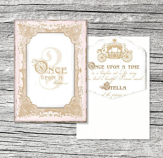 Once Upon a Time Princess Invitation Suite Themed parties