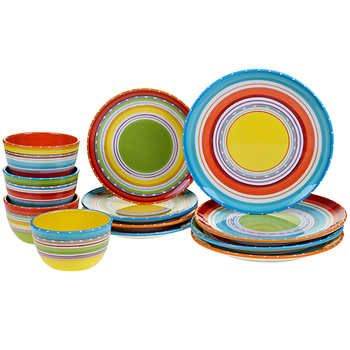 Certified International Mariachi 12-piece Dinnerware Set I love all the colors this would  sc 1 st  Pinterest & Certified International Mariachi 12-piece Dinnerware Set I love all ...