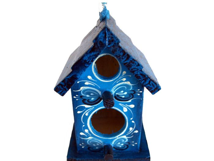 I'm going to try to paint this on the unpainted birdhouse I've had for the past oh, four years