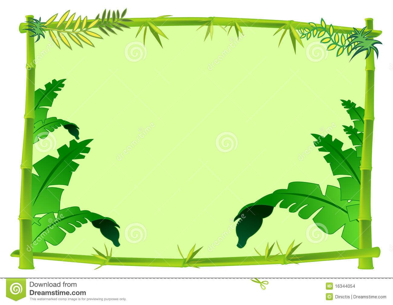 jungle tree bamboo jungle frame clipart | summer ...