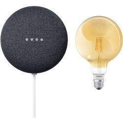 Google Nest Mini & Osram Smart+ Set 9 (Anthrazit)Bauhaus.info #googlehomemini