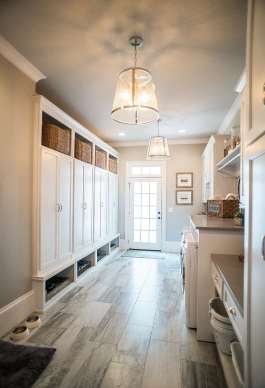 Like The Closed In Lockers Large Laundry With Cabinets Mudroom