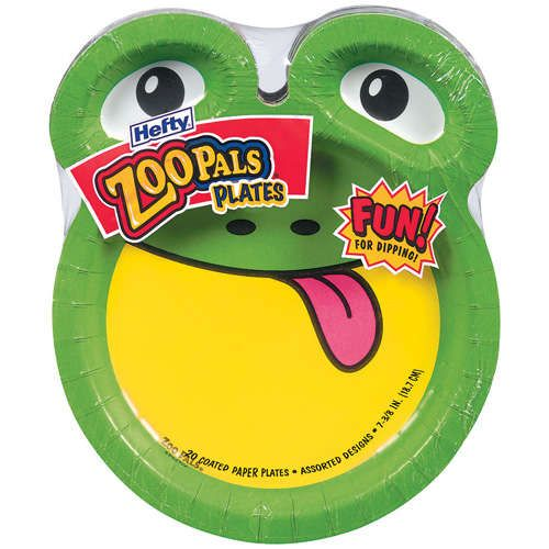 Hefty Pals Zoo Pals Variety Pack 7 375 Paper Plates 20 Ct