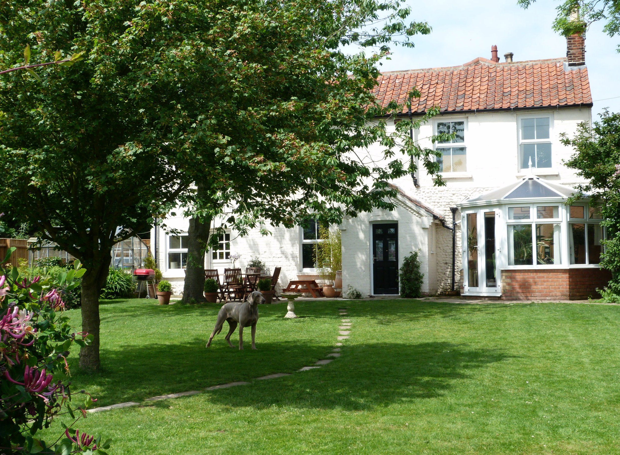 Enjoying the garden at Orchard Cottage holiday cottage in ...