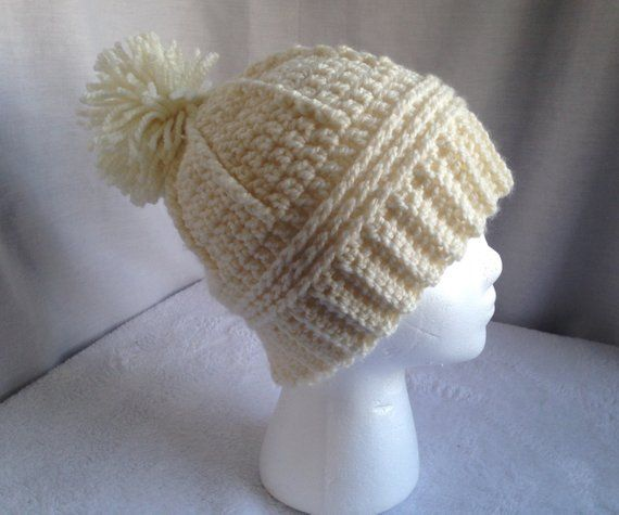 Crochet PATTERN - December Hat 8e16fd3a2b19
