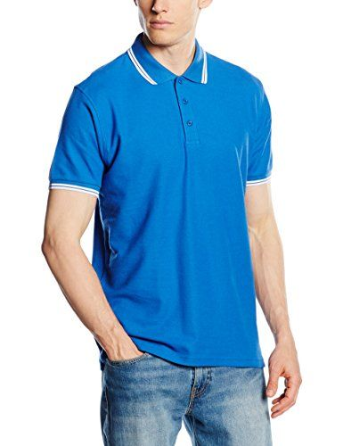 2d076997 From 5.99 Fruit Of The Loom Men's Tipped Premium Polo Shirt Royal  Blue/white Large