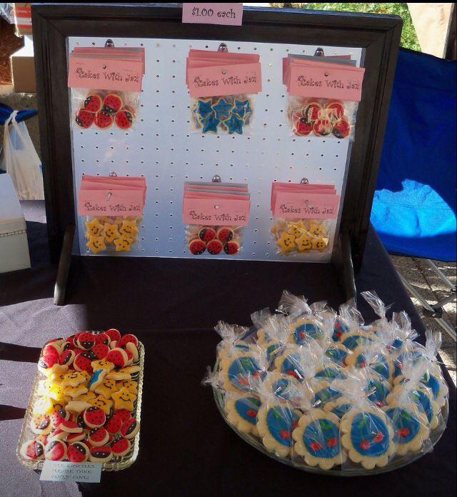 Peg Board To Display Packaged Cookies Bake Sale