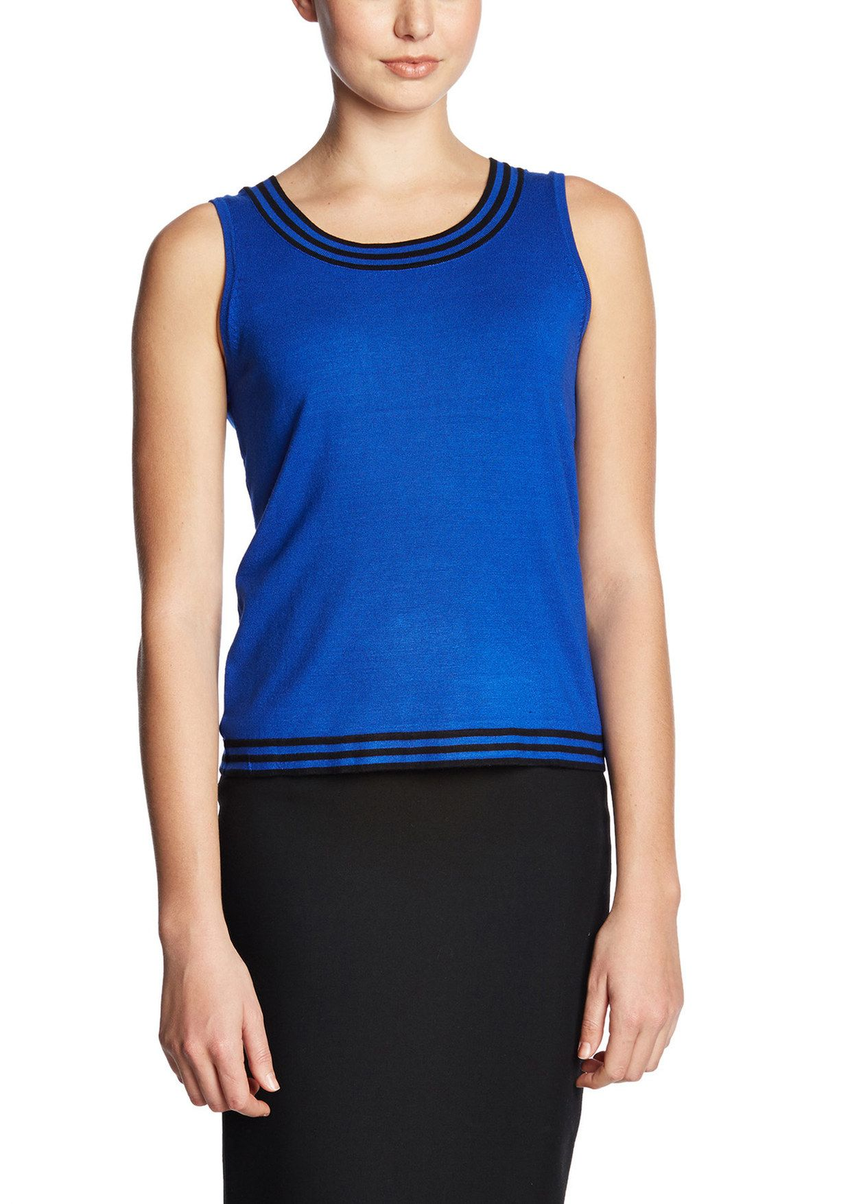 CABLE & GAUGE Scoop Neck Shell with Tipping   ideel ($19.99, M, vest-it)