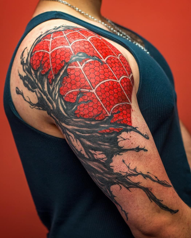 37fcdf260 Venom Tattoo, Badass Tattoos, Nom Nom, Spiderman, Santiago, Tattoo  Inspiration,