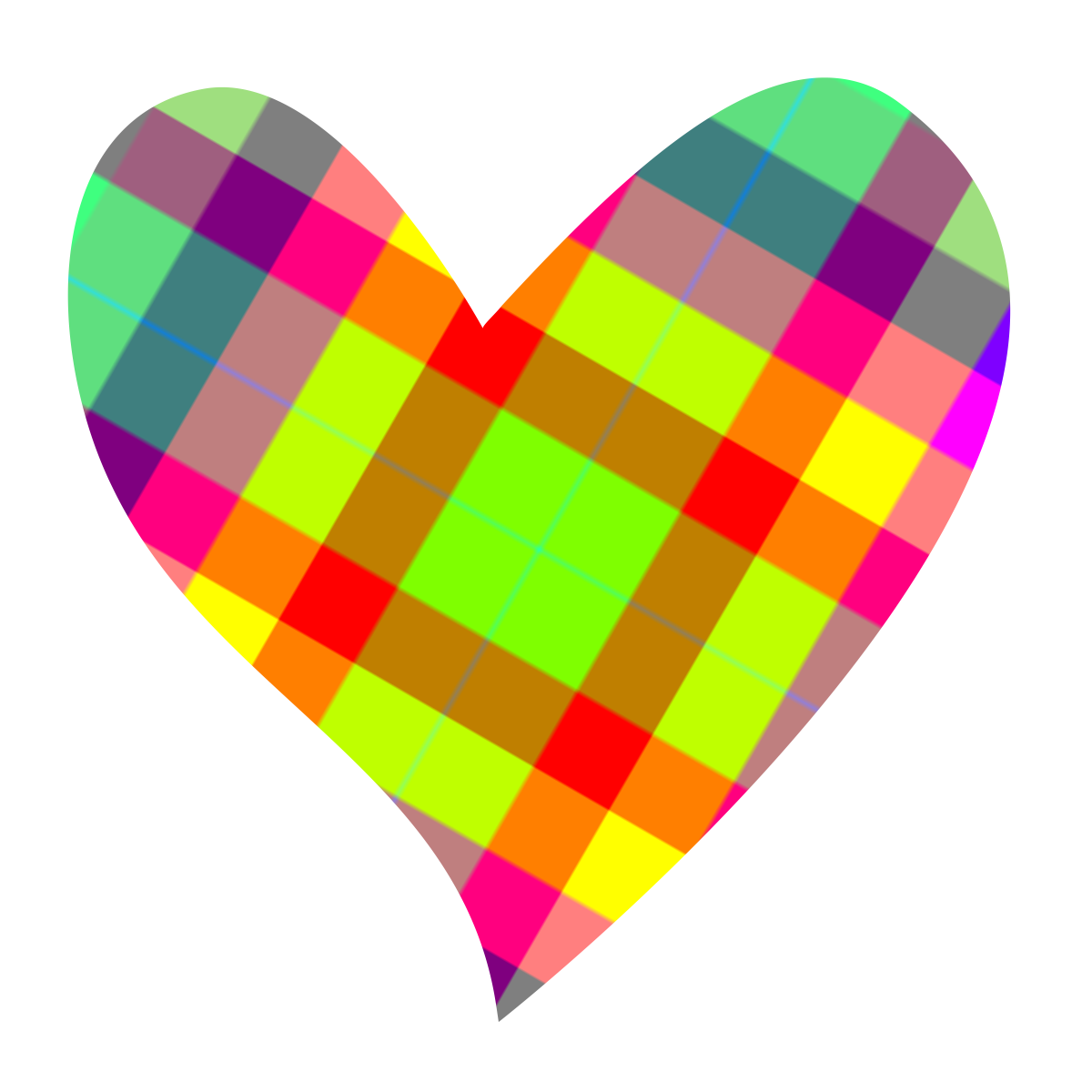 Hearts ‿ ⁀♡♥♡ | Heart clip art, Colorful heart, Free clip art