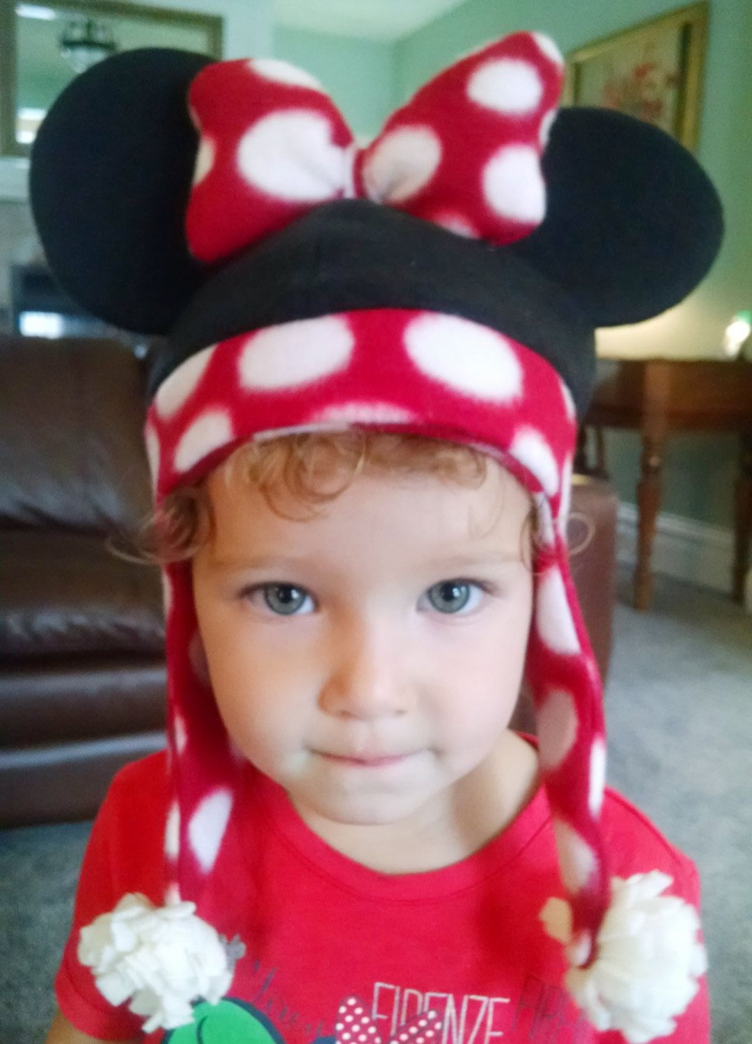 Minnie Mouse fleece hat design, size 2/4 by SoSewMimi on Etsy