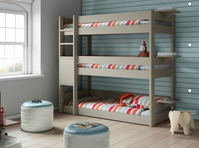 Lit superpos trois places chambres d 39 enfants kids rooms pinterest - Lit superpose 3 places belgique ...