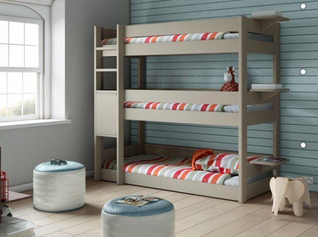 Lit Superposé Trois Places Chambres Denfants Kids Rooms - Canapé 3 places pour deco lit enfant